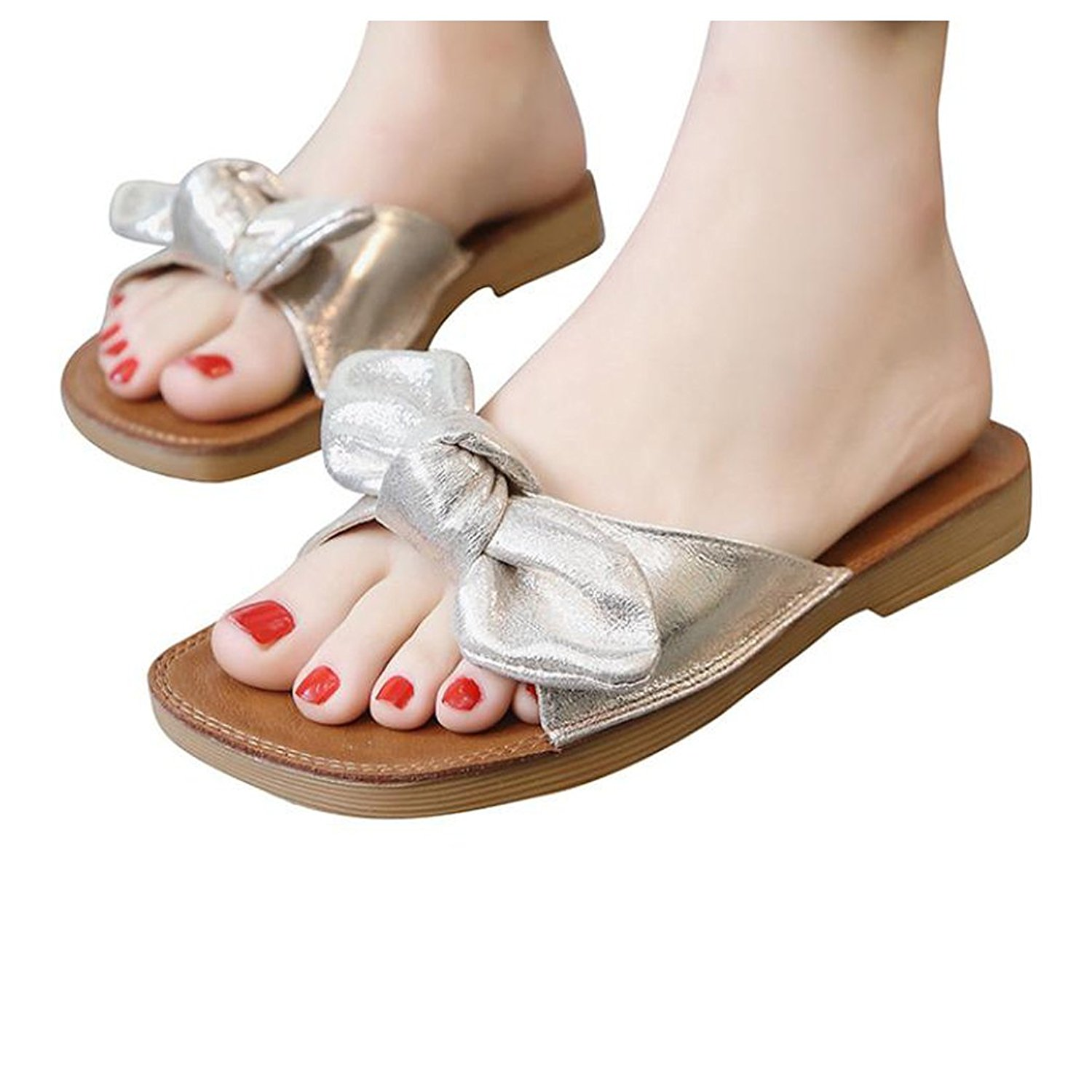 3ed8036e60ae Get Quotations · Inkach Womens Wedge Sandals ❤ Fashion Summer Chunky Heeled  Wedge Sandals Thong Slippers Flip-