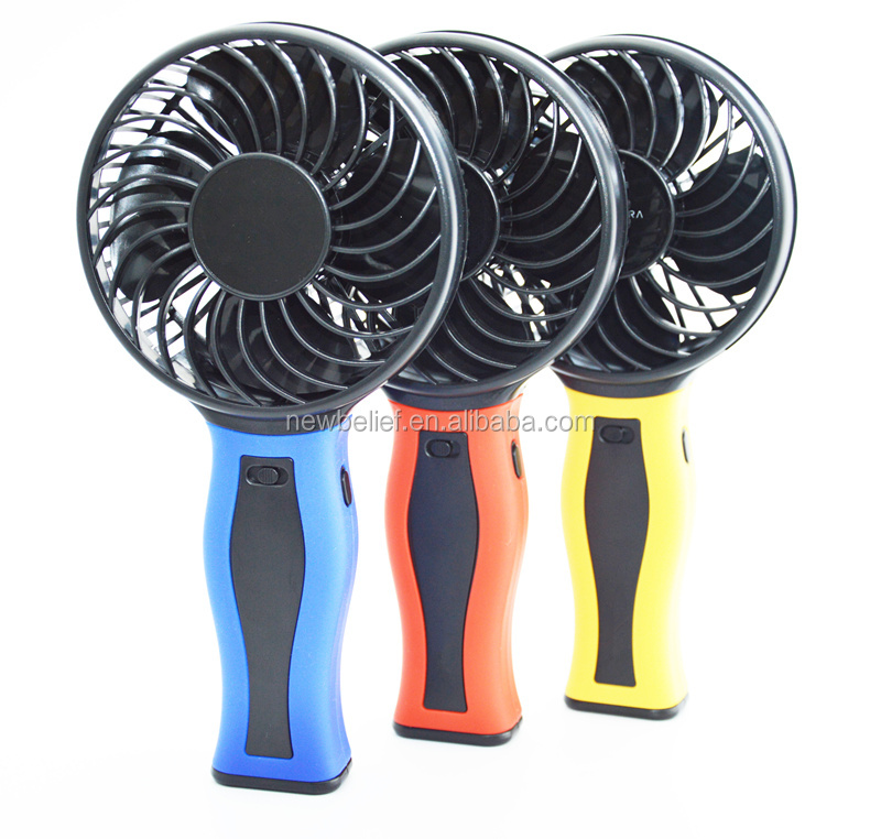 High Quality rechargable fan with light handheld mini fan usb with power bank