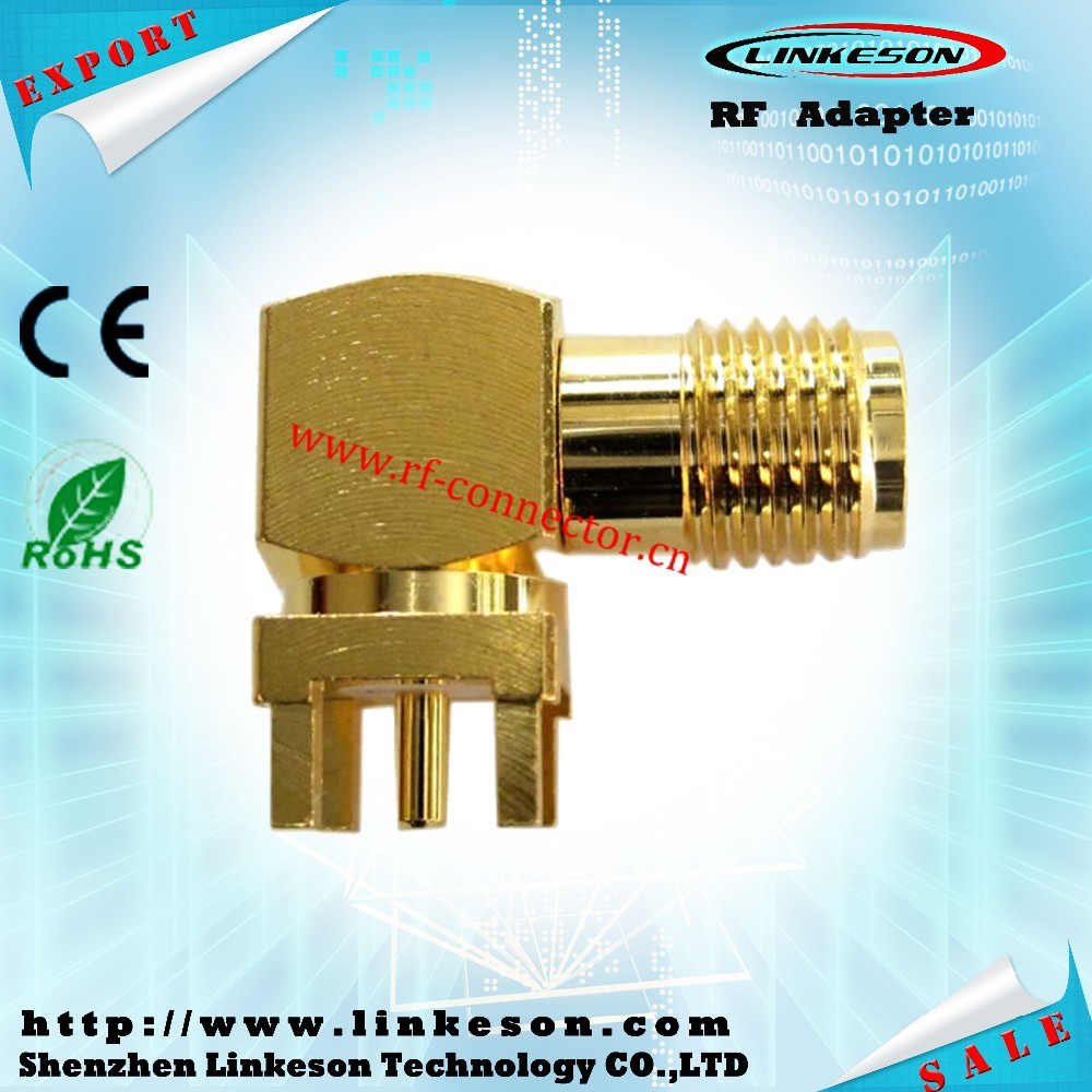 2015 new SMA female right angle for pcb