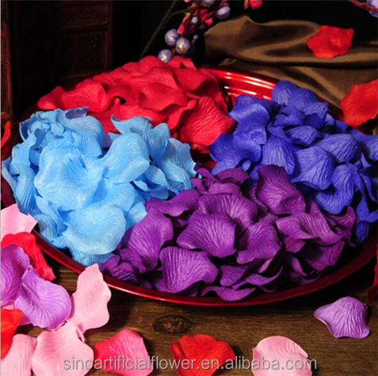 Wholesale Artificial Silk Rose Flower Petals Wedding Decoration