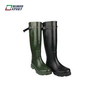 Fashion popular knee high rubber waterproof riding boot for men