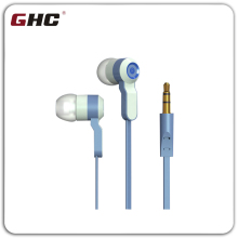popular flat earphone with super bass sound quality, can show the logo in earphone