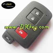 High quality smart car key shell for toyota 2+1 buttonswith emergency blade car remote key