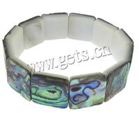 Square Abalone Shell Bracelets 16x16x4mm Length:7.6 Inch 12PCs/Strand 63748
