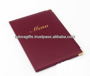 new style menu covers cheap top grade leather menu folder 5 star