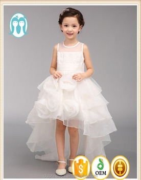 2017 Kids Cotton Frocks Design Angel White Wedding Dresses Tail Smearing Rose S One Piece Party