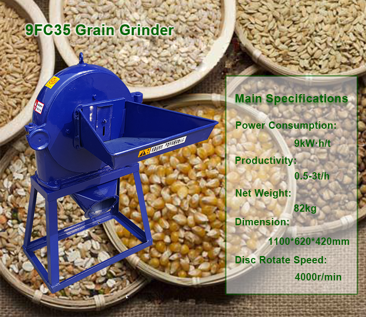 HONEST 9FC35 Industrial Grain Crushing Corn Grinder Mill