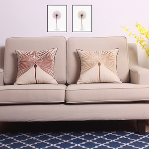Wholesale Chinese dandelion embroidered pillow by package designer pillows sofa chair cushion office car pillow cushion