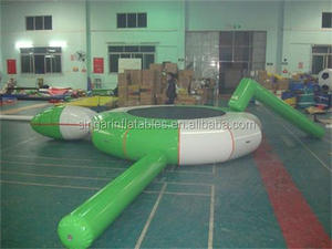 HOT SALE! Inflatable small water park for sea , water trampoline set with jump blob