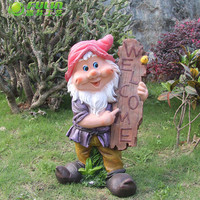 large garden gnome art