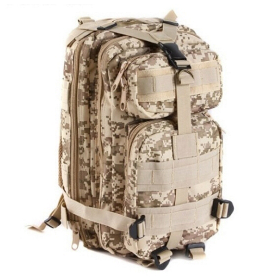 cheap Unisex Outdoor Military Tactical Backpack Camping Hiking Rucksacks woodland camo bag