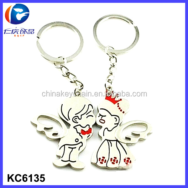 Personalized Beautiful Key Chains Promotion Cute Couple Keychain