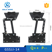 Factory out let Space saving Folding and extension lift up transformer coffee table mechanism GSSJJ-14