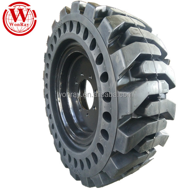 low profile heavy duty solid rubber wheel, off the road bobcat <strong>tires</strong> and rim 10 16.5 with good price