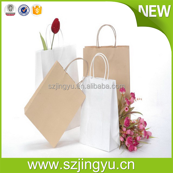Multifunctional kraft raw materials of paper bag with zip for clothing