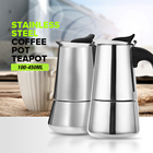 100/200/300/450ML Stainless Steel Coffee Moka Pot Coffee Maker Teapot Mocha Stovetop Tool Filter Percolator Cafetiere
