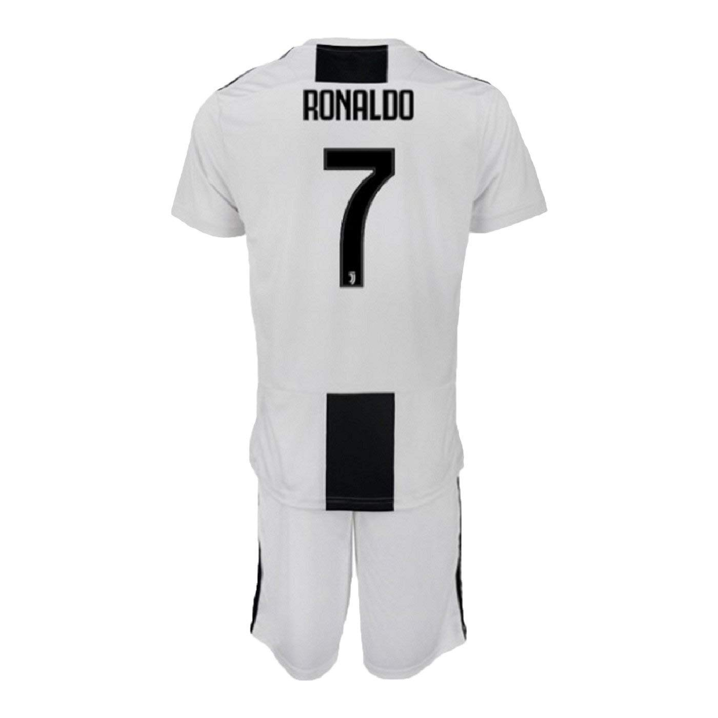 b81791f44 Get Quotations · Fiueker Youth Ronaldo Jerseys Juventus #7 Soccer Jersey  2018/2019 Home Shirt