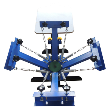 6aa666e1 NS401-S 4 Color 1 Station silk Screen Printing Press machine T-Shirt clothes