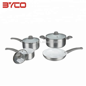 Food Grade Aluminum Pressed 100% titanium german style cookware sets , Titanium 4 sets Cookware
