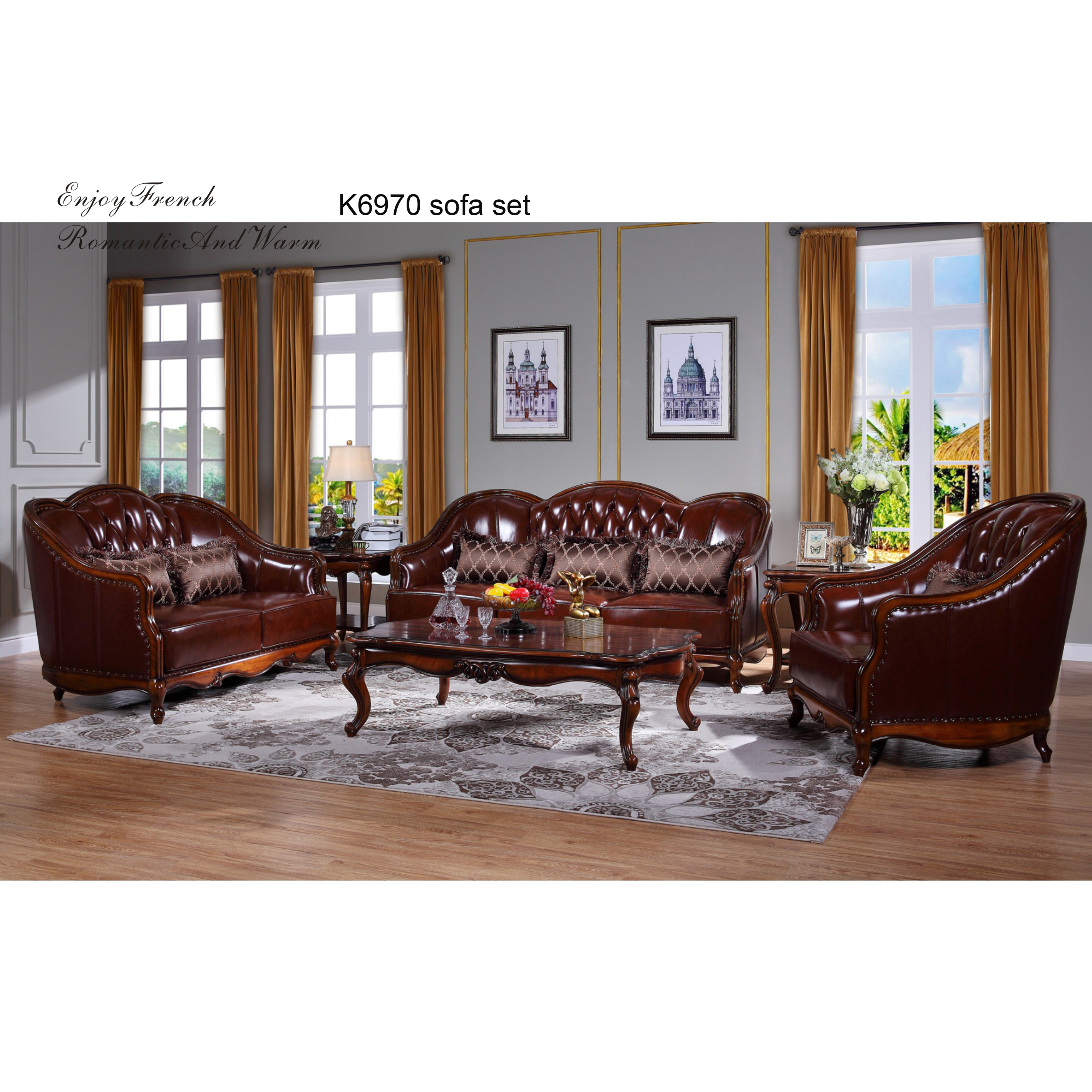 K6970 Best Price American Style Leather Sofa With Wooden Frame Buy Fancy Living Room Sofa Furniture Direct From China Furniture American Style