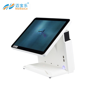 15 inch wholeset dual screen desktop pos system machine windos with pos software