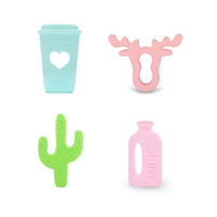 2018 Silicone Teether Customized Make Baby Products Teething Toys Bpa Free Pastel