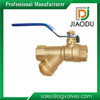 Lower Handle Forged Brass Y Filter Ball Valve