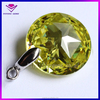 apple green round faceted cubic zirconia loose gems bag pendant