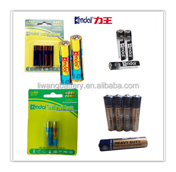 1.5V alkaline battery LR03 AAA in different packing