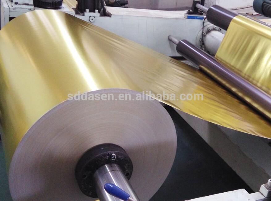 Gedruckt Typ Silber/Goldene Glasierte Metallisierte Beschichtet Papier