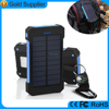 2016 factory price waterproof portable 10000mah solar cell phone charger for iphone 6s