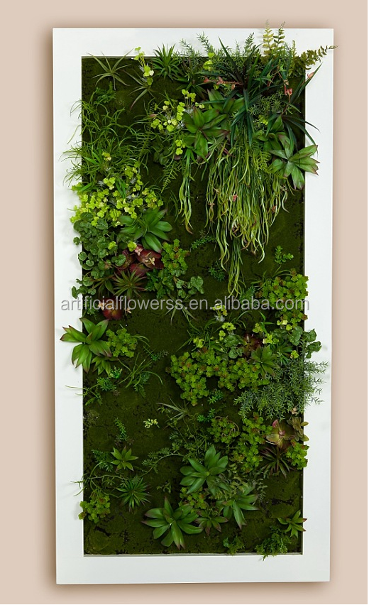 China Supplier Artificial Green Wall Succulent Hanging Wall For ...