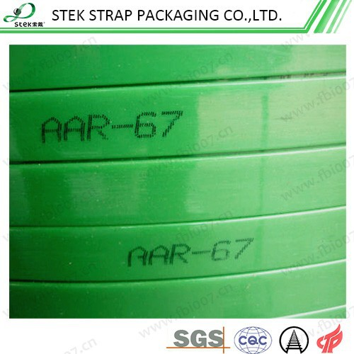 AAR approval aluminum packing strap,pet strap for aluminum ingot packing
