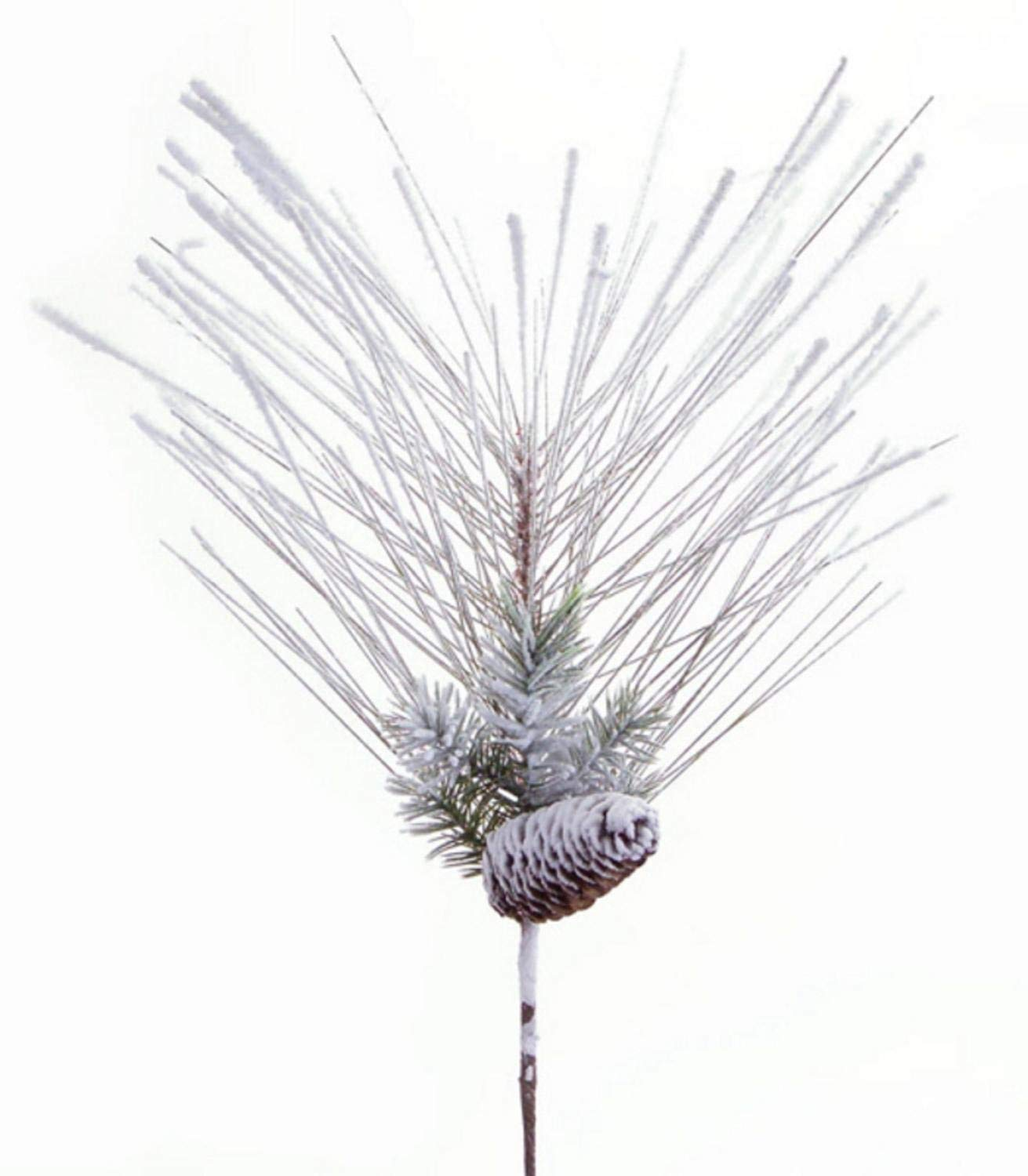 """Melrose Club Pack of 12 Artificial Snowy Mixed Pine Christmas Sprays with Pine Cones 24"""""""