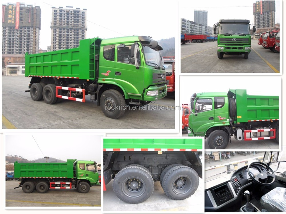 Made in china 6x4 10 tires 25 ton loading capacity cheap tipper truck