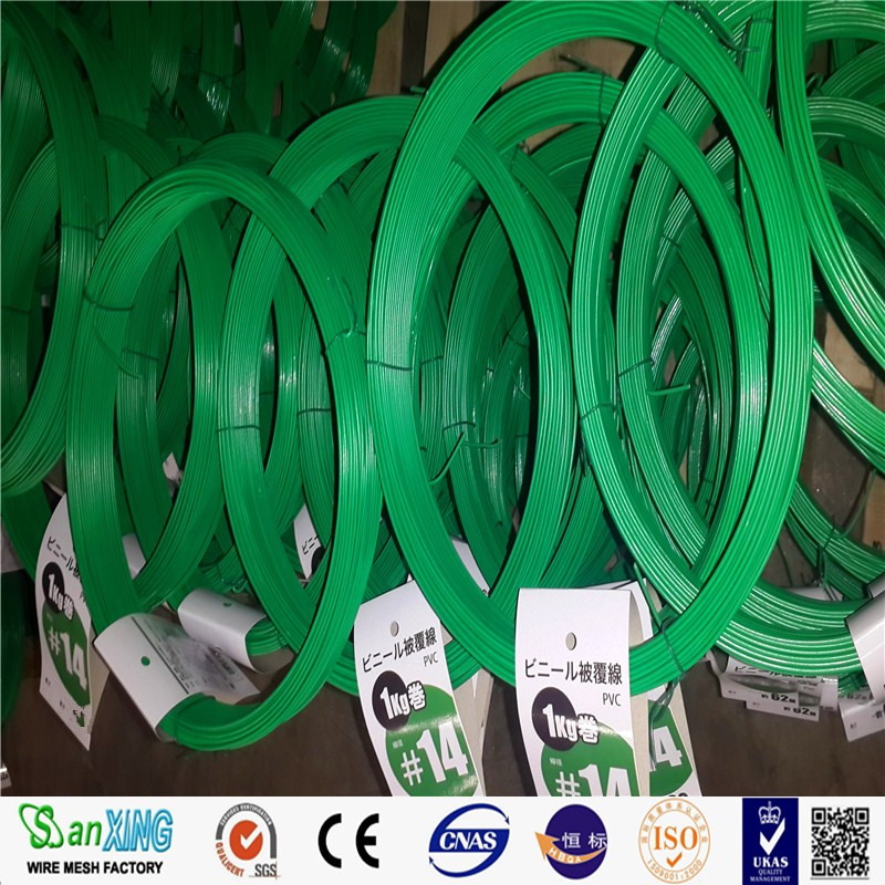 PVC Coated Galvanized Wire Green PVC Coating Binding Tie Wire