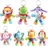 CE EN71 Standard soft plush stuffed animals musical baby squeaky toy/Educational soft musical toys baby bed hanging toy