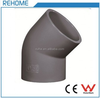 PVC Pipe Socket Elbow 45 Degree Plastic Fitting for Pressure Water Tube System