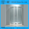 1/4 CIRCLE Safety Glass Round SHOWER ROOM with Hardware Accessories