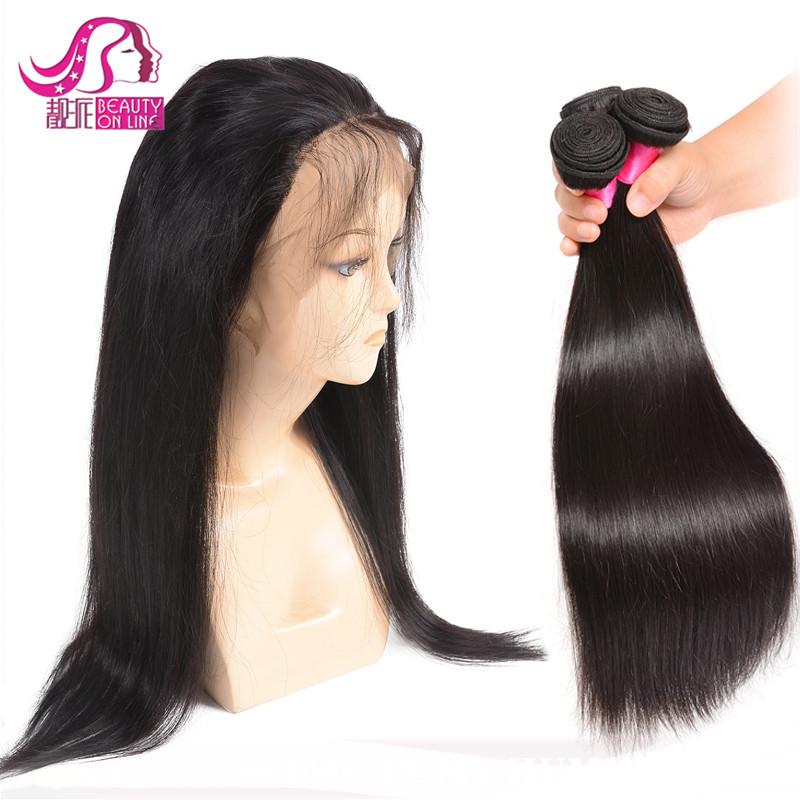 100% Brazilian virgin human hair silky straight wave 360 lace frontal closure фото