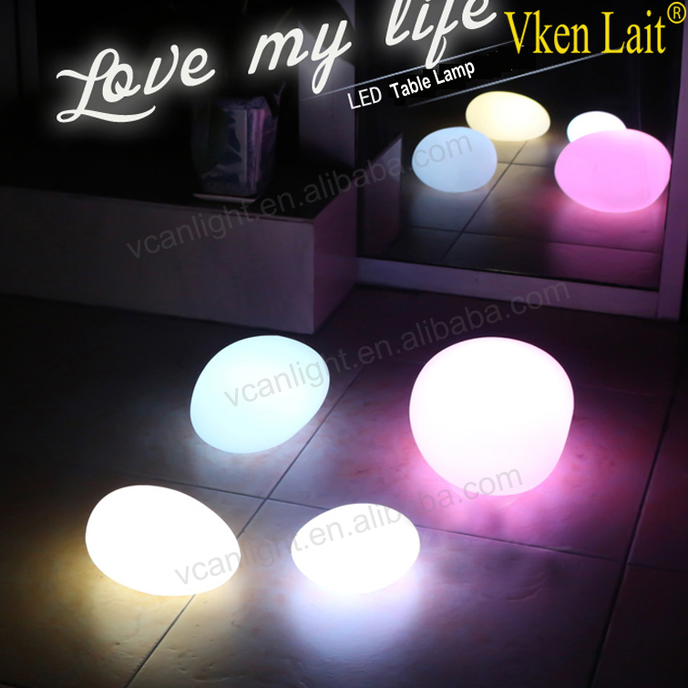 Garden decorative stone shaped led light