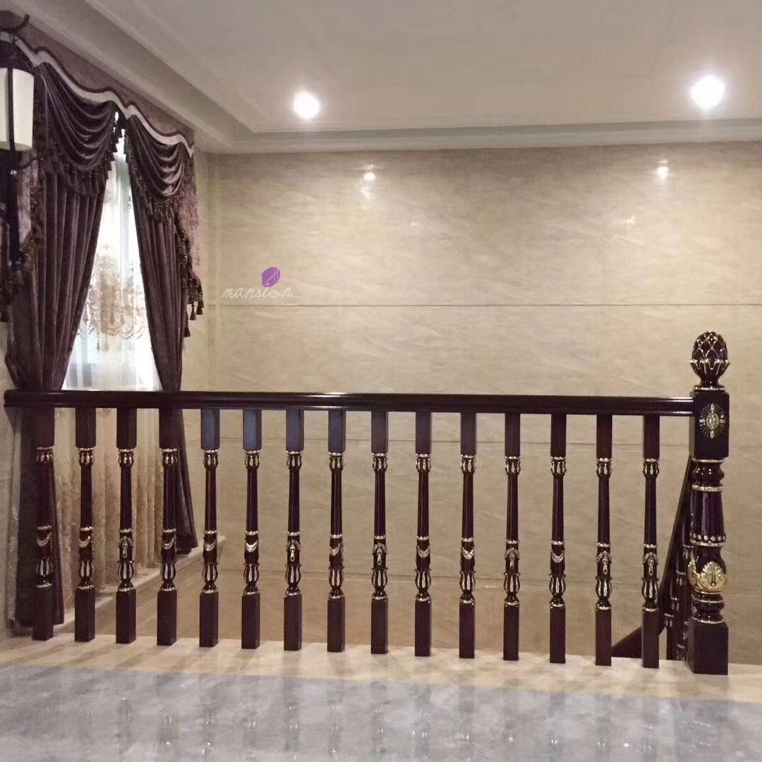 Indoor Customized Wood Posts Stair Railing - Buy Wooden Stair