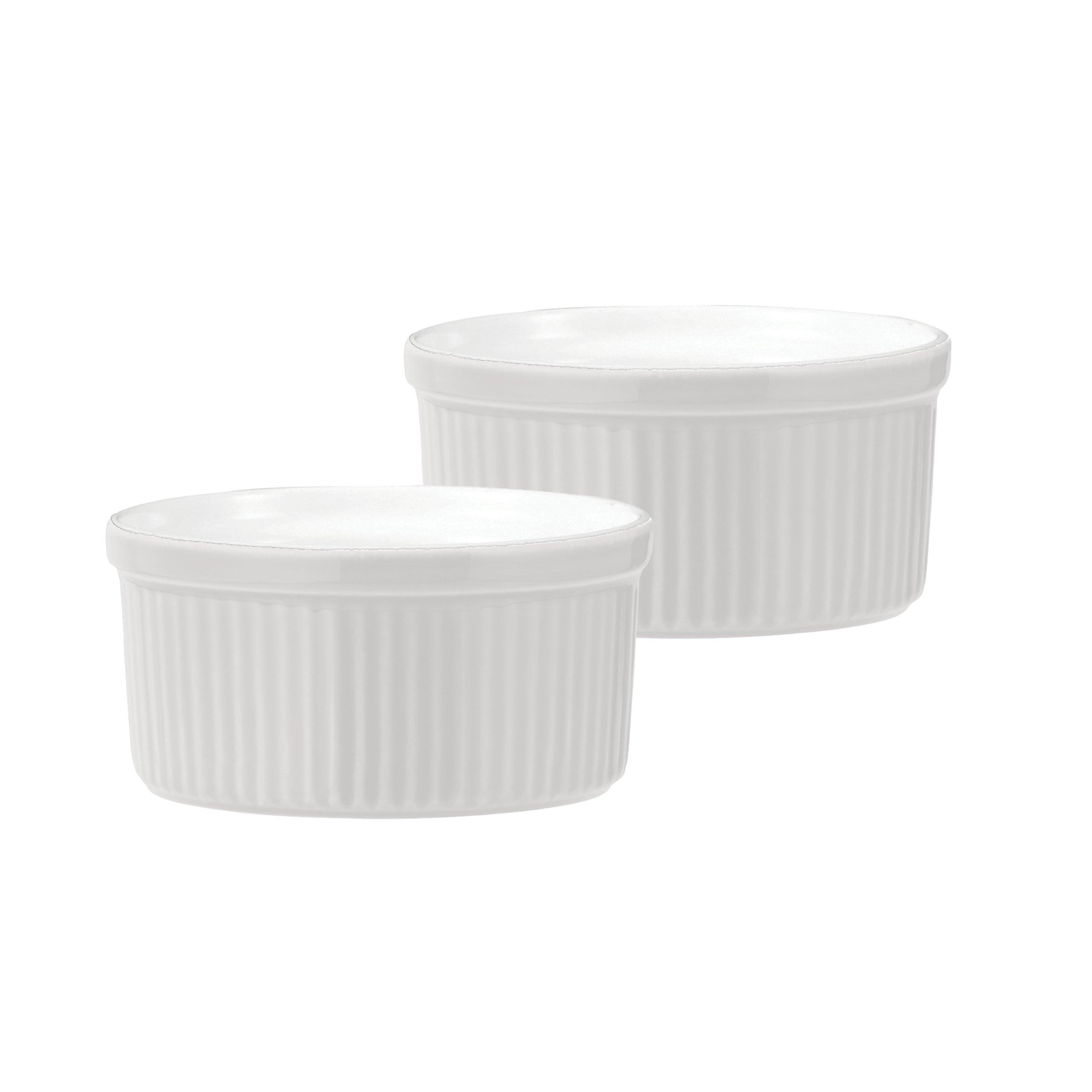 Emile Henry Souffle Dish, 8-Ounce, White, Set of 2