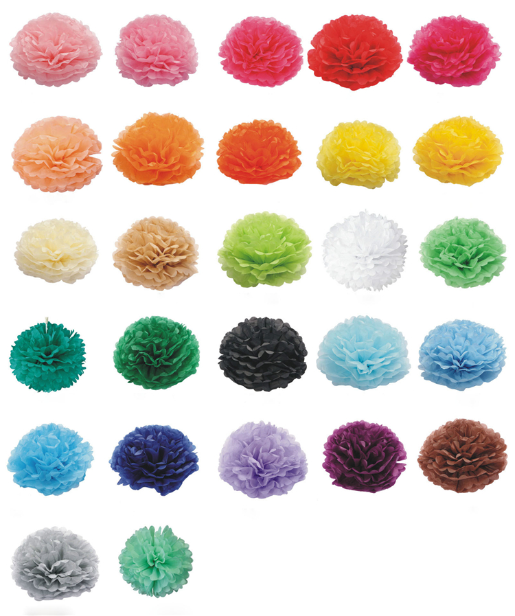 Hanging 14 Inch Tissue Paper Pom Poms Flowers Ball for Party Decoration