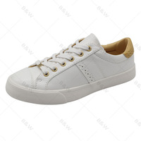 Classical Fashionable canvas pu upper white casual shoes women