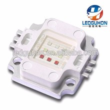 square shape emitting Tri-Color(Red-Blue-Green) high power 12v 10w led chip