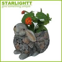 Custom made Polyresin Bunny Easter Gift/resin figurine