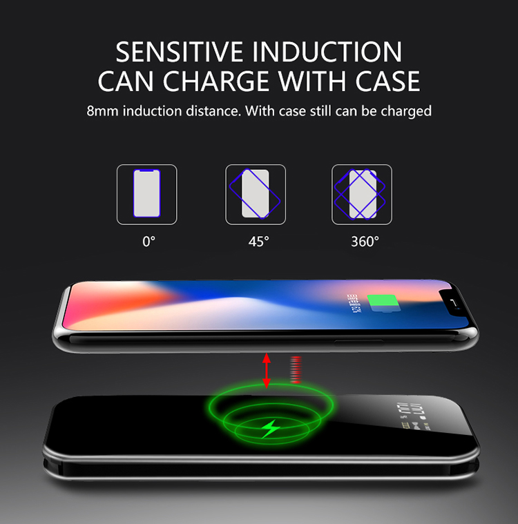 New Wireless Power Bank Charger 10000mah With Cable smart