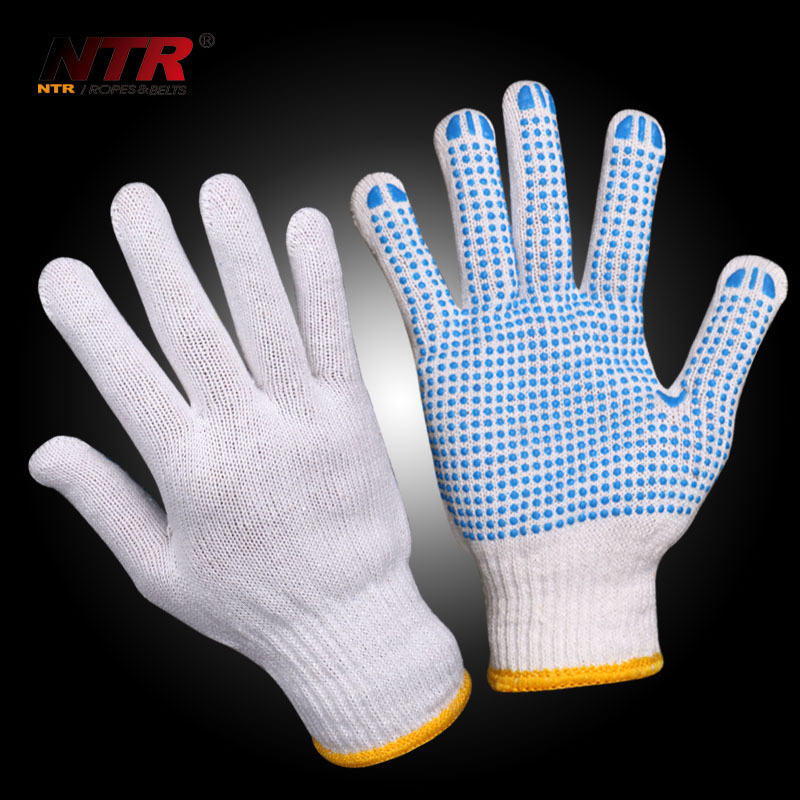 Quality PVC dotted cotton gloves