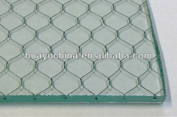 Wired Mesh Glass Art Laminated Glass - Buy Glass With Wire Me\'sh ...
